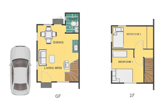 Mika Floor Plan House and Lot in Alfonso