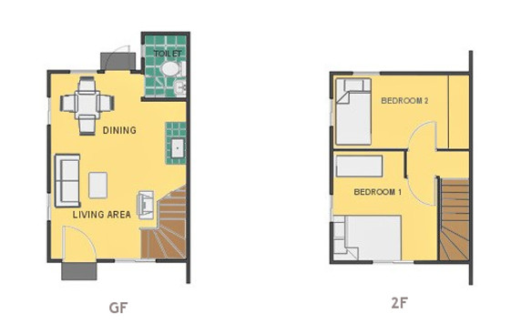 Mikaela Floor Plan House and Lot in Alfonso