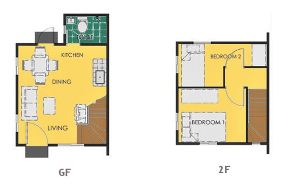 Ravena Floor Plan House and Lot in Alfonso