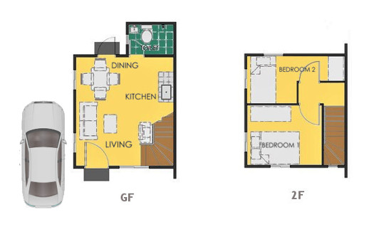 Reva Floor Plan House and Lot in Alfonso