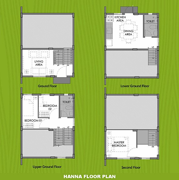 Hanna Floor Plan House and Lot in Alfonso
