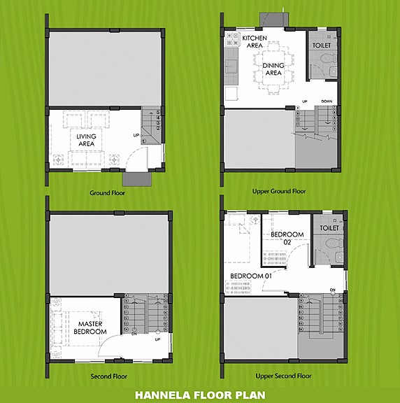 Hannela Floor Plan House and Lot in Alfonso