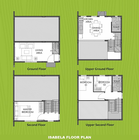 Isabela Floor Plan House and Lot in Alfonso