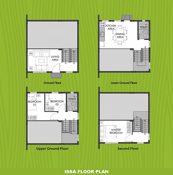 Issa Floor Plan House and Lot in Alfonso
