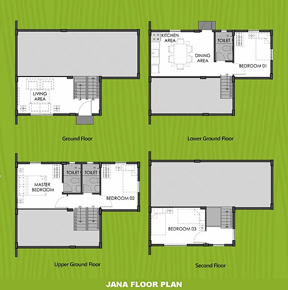 Janna Floor Plan House and Lot in Alfonso