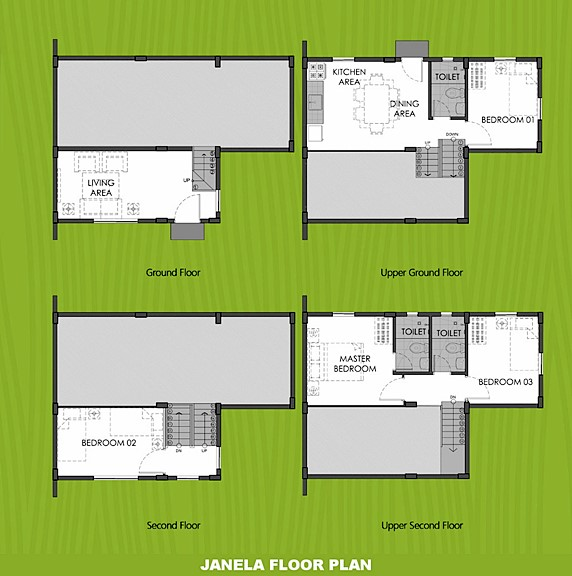 Janela Floor Plan House and Lot in Alfonso