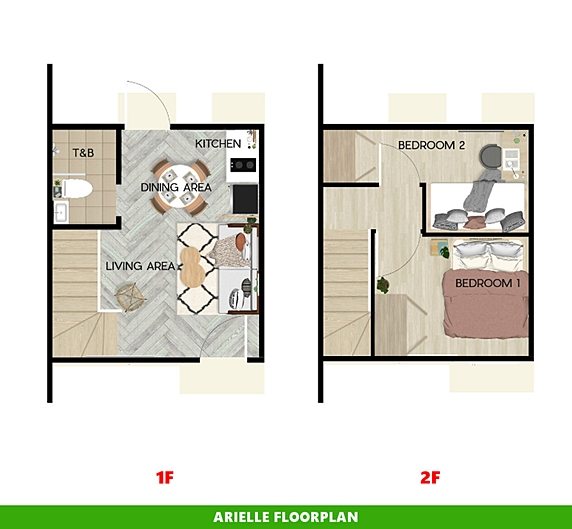 Arielle Floor Plan House and Lot in Alfonso