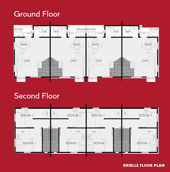 Brielle Floor Plan House and Lot in Alfonso