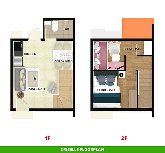 Criselle Floor Plan House and Lot in Alfonso