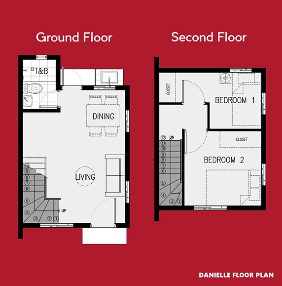 Danielle Floor Plan House and Lot in Alfonso