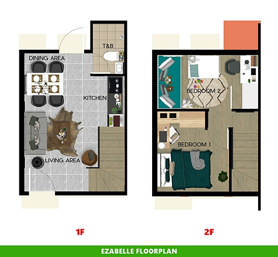 Ezabelle Floor Plan House and Lot in Alfonso
