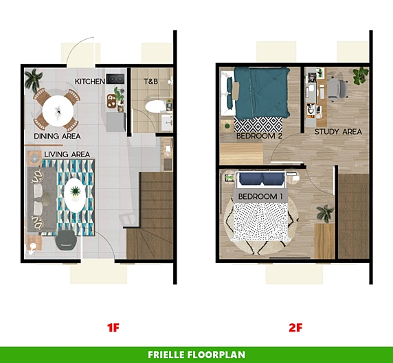 Frielle Floor Plan House and Lot in Alfonso