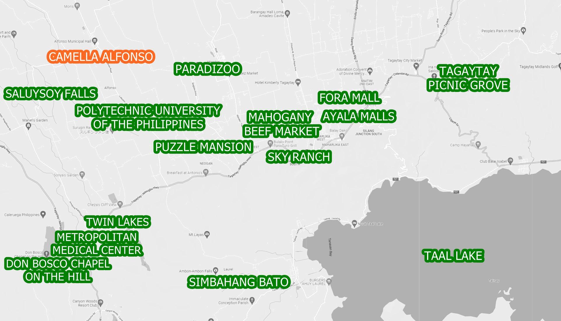 Alfonso Property Vicinity Map